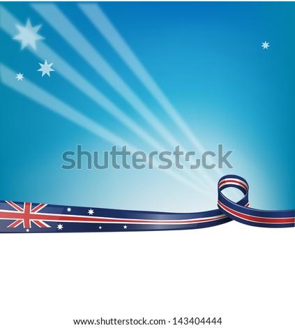 australian flag background - stock vector