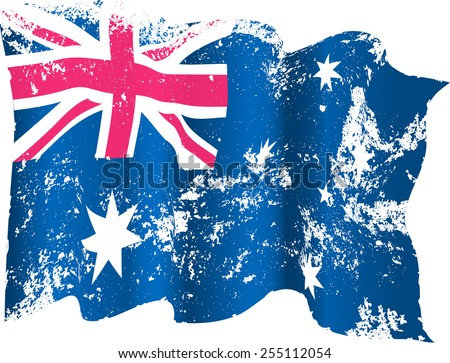 Australian grunge flag. Eps10 - stock vector