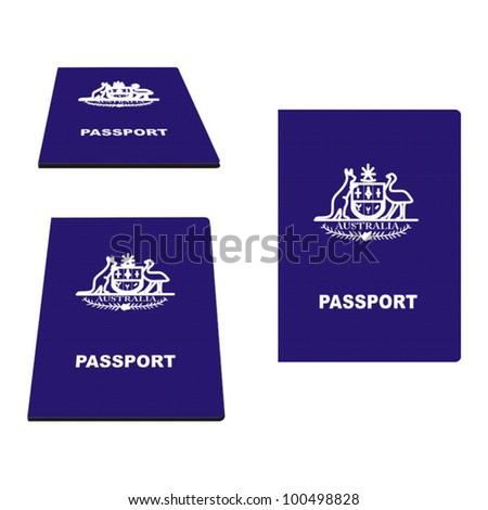Australian Passport vector illustration - stock vector