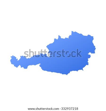 Austria country map,border - stock vector