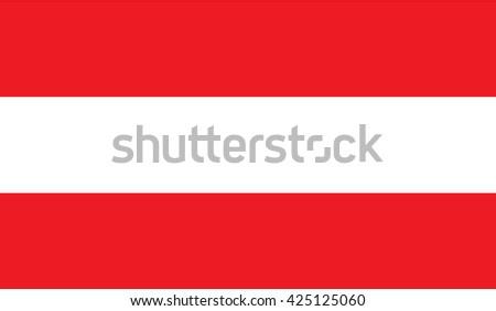 Austria flag - stock vector