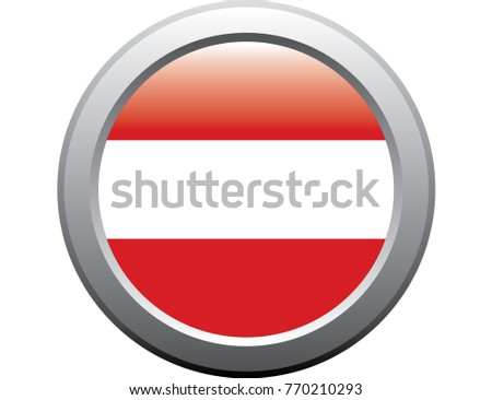 Austria flag emblem button metal sticker