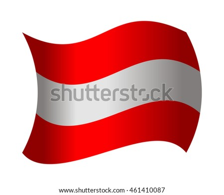 austria flag waving in the wind
