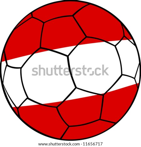 austria football on white Background