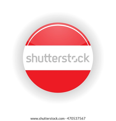 Austria icon circle isolated on white background. Vienna icon vector illustration
