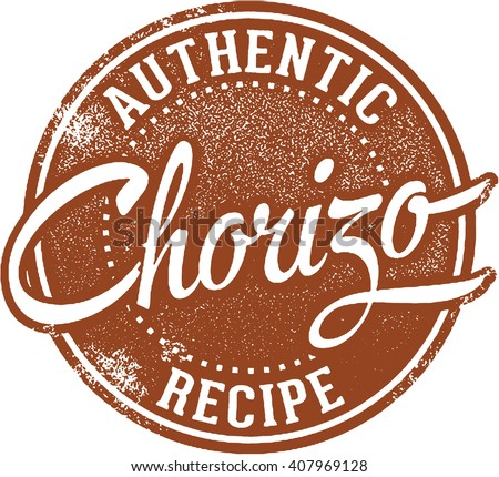 Authentic Mexican Chorizo Sausage - stock vector