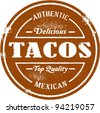 Authentic Vintage Style Taco Stamp - stock vector