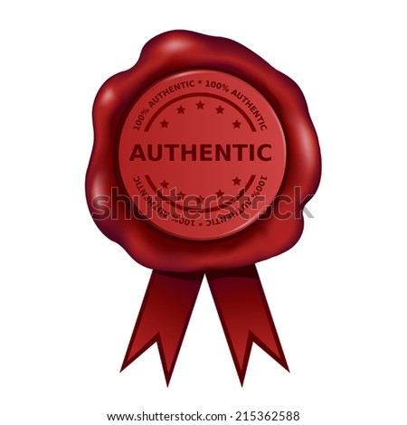 Authentic Wax Seal - stock vector