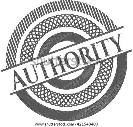Authority draw (pencil strokes) - stock vector