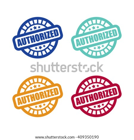 Authorized Stamp Labels - stock vector