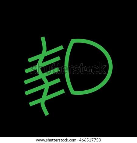 Auto Car Light Symbol Isolated On Stock Photo Photo Vector