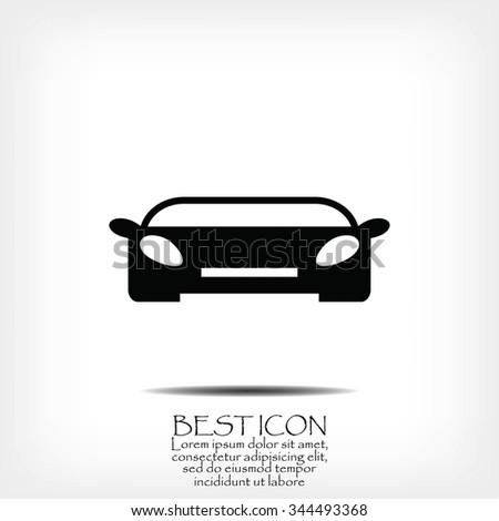 auto car vector - stock vector