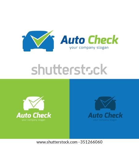 Auto Check Logo,Vector Logo template - stock vector