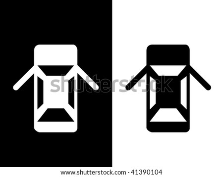 auto icon.more in my gallery - stock vector