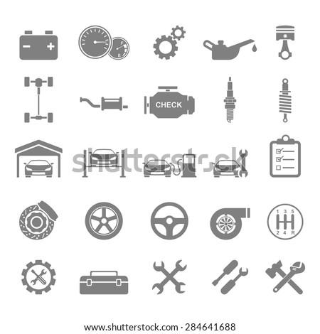 Auto Icons.vector - stock vector