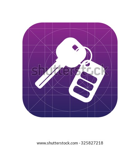 Auto keys with remote sign icon, vector illustration. Flat design style for web and mobile. - stock vector