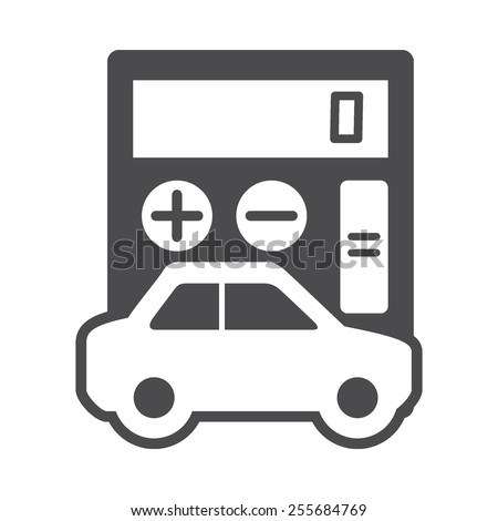 Auto Loan Calculator Vector Image Be Stock Vector