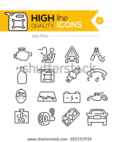 Auto Parts line Icon - stock vector