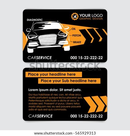 Auto repair business card template create stock vector royalty free auto repair business card template create your own business cards mockup vector illustration reheart Choice Image