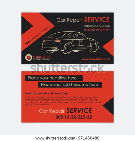 Auto repair business card template create stock vector hd royalty auto repair business card template create your own business cards mockup vector illustration accmission Gallery