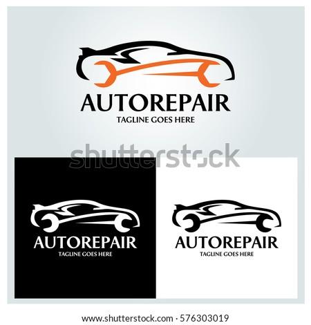 Auto Repair Logo Design Template Vector Stock Vector 576303019 ...