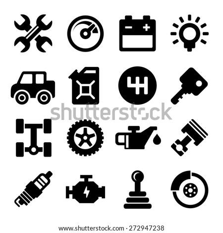 Auto Repair Service Icons - stock vector