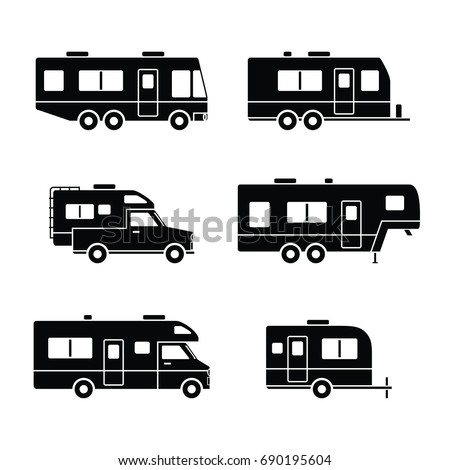 camper silhouette stock images  royalty free images Classic Pickup Trucks Clip Art Classic Pickup Trucks Clip Art