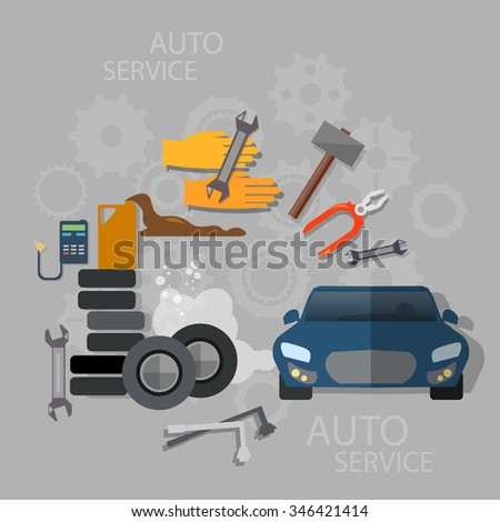 Auto service car repair oil change diagnostics tire service and maintenance