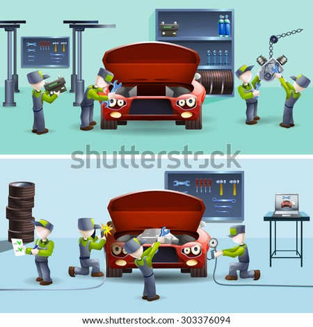 Car service center stock images royalty free images for Garage fast auto sarcelles