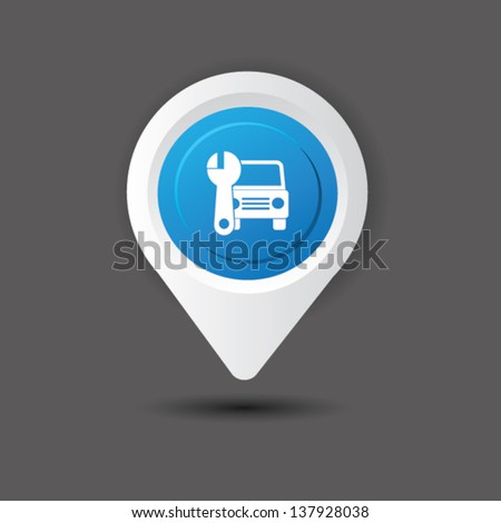 Auto sign,vector - stock vector