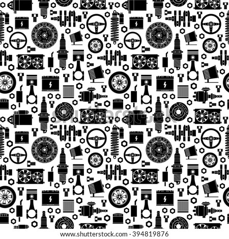 auto spare parts seamless pattern car stock vector royalty free