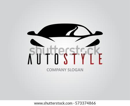Auto Style Car Logo Design Concept Stock Vector 573374866