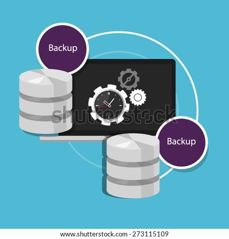 Automatic Backup Database Stock Vector 273115109 - Shutterstock