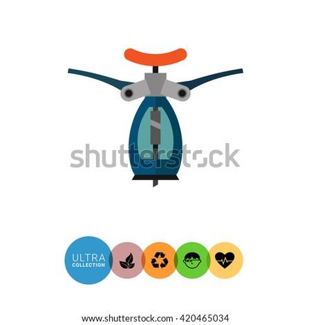Automatic corkscrew icon - stock vector
