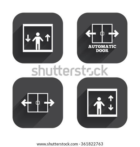 Automatic Door Icons Elevator Symbols Auto Stock Vector Hd Royalty