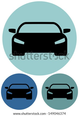 automobile icon - stock vector