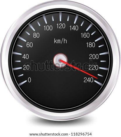 Automobile speedometer. Vector illustration - stock vector