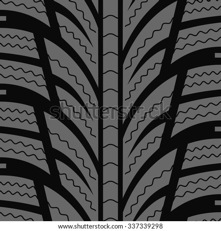 Automobile winter tire seamless vector pattern. - stock vector