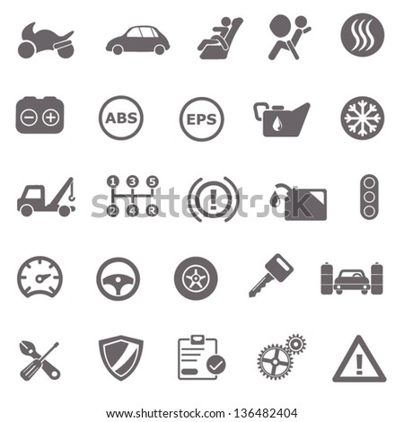Automotive basic icons - stock vector
