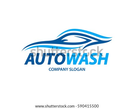 automotive car wash logo design abstract stock vector 590415500 rh shutterstock com car wash logo templates car wash logs
