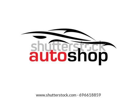automotive dealer concept logo design sportscar stock vector 2018 rh shutterstock com auto shop logo design auto repair shop logo