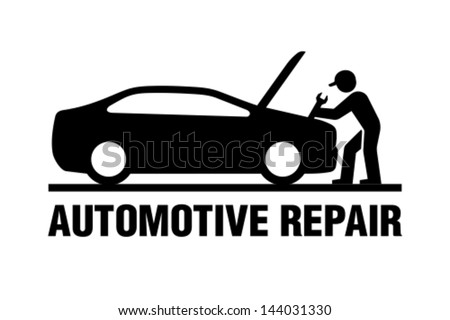 Automotive repair - stock vector