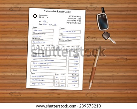 automotive repair order forms