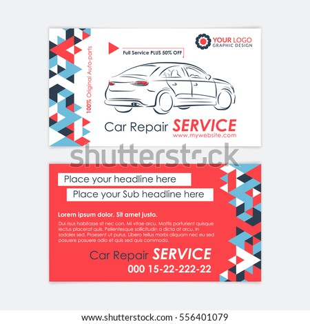Automotive service business card template car stock vector hd automotive service business card template car diagnostics and transport repair create your own business wajeb Choice Image