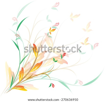 autumn abstract - stock vector