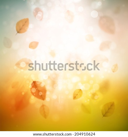 Autumn abstract background, eps 10 - stock vector