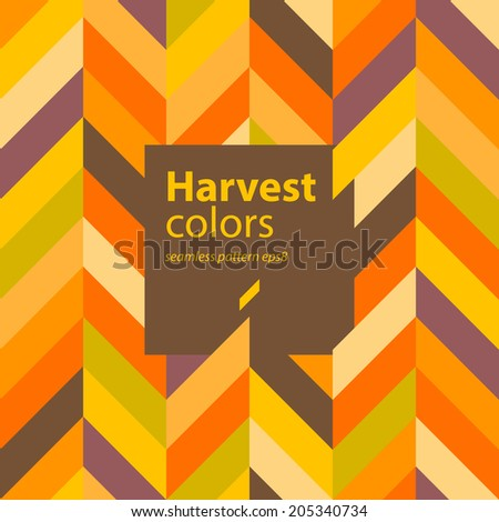 Autumn abstract geometric seamless pattern background - stock vector