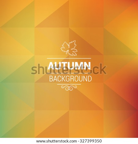 Autumn abstract triangle background, EPS 10 - stock vector
