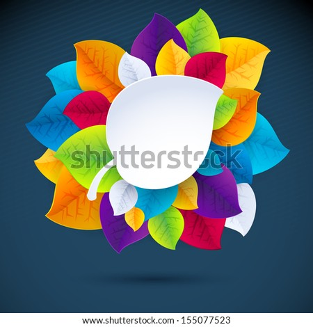 Autumn abstract vector background. simple shapes and bright colors for the fabric, web, print. rainbow colors will make fun of you