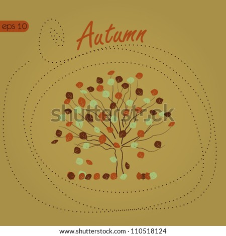 Autumn Background, Autumn Tree
